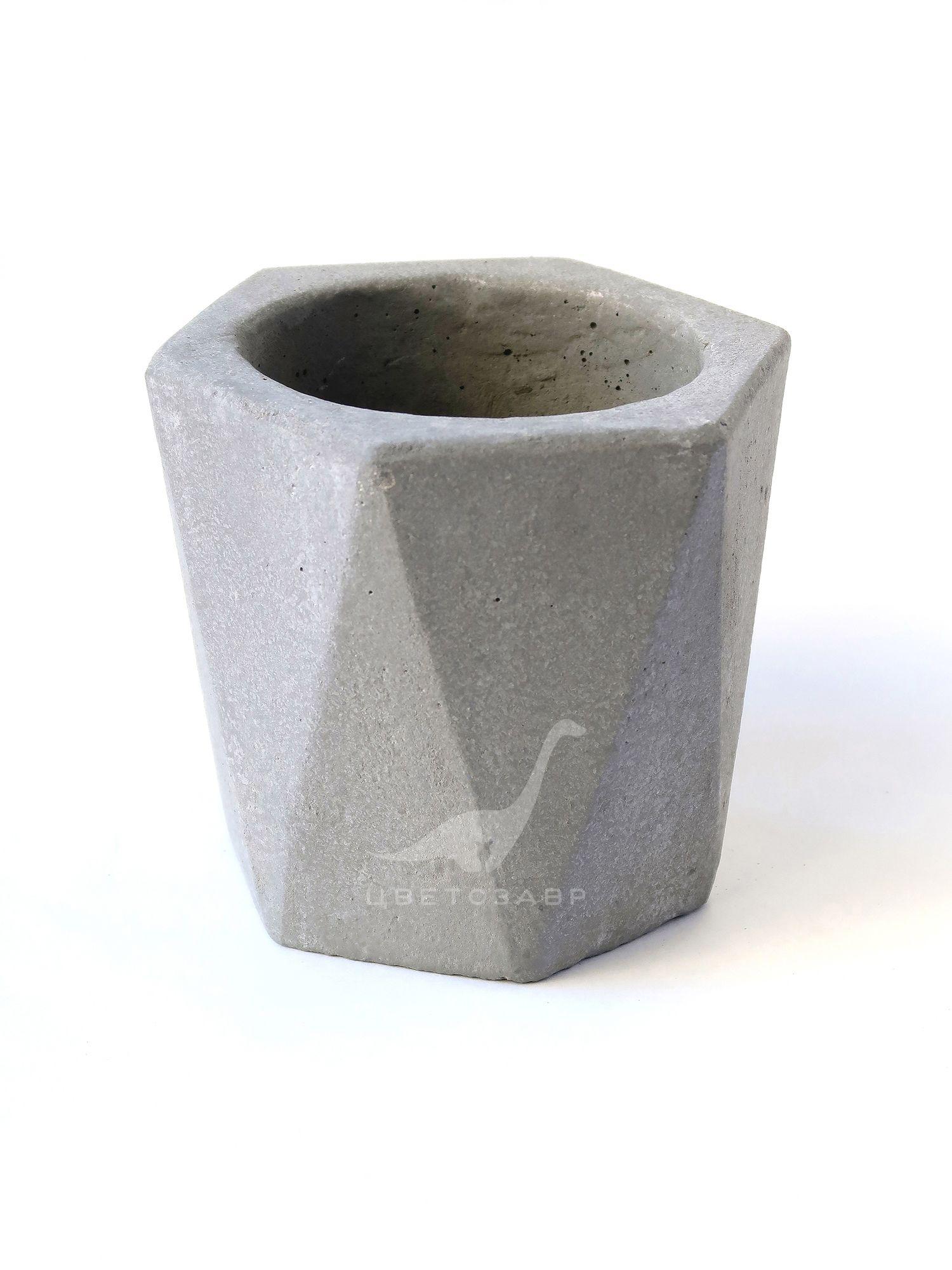 """Бетонный горшок """"Алмаз""""Concrete-planter-diamond"""