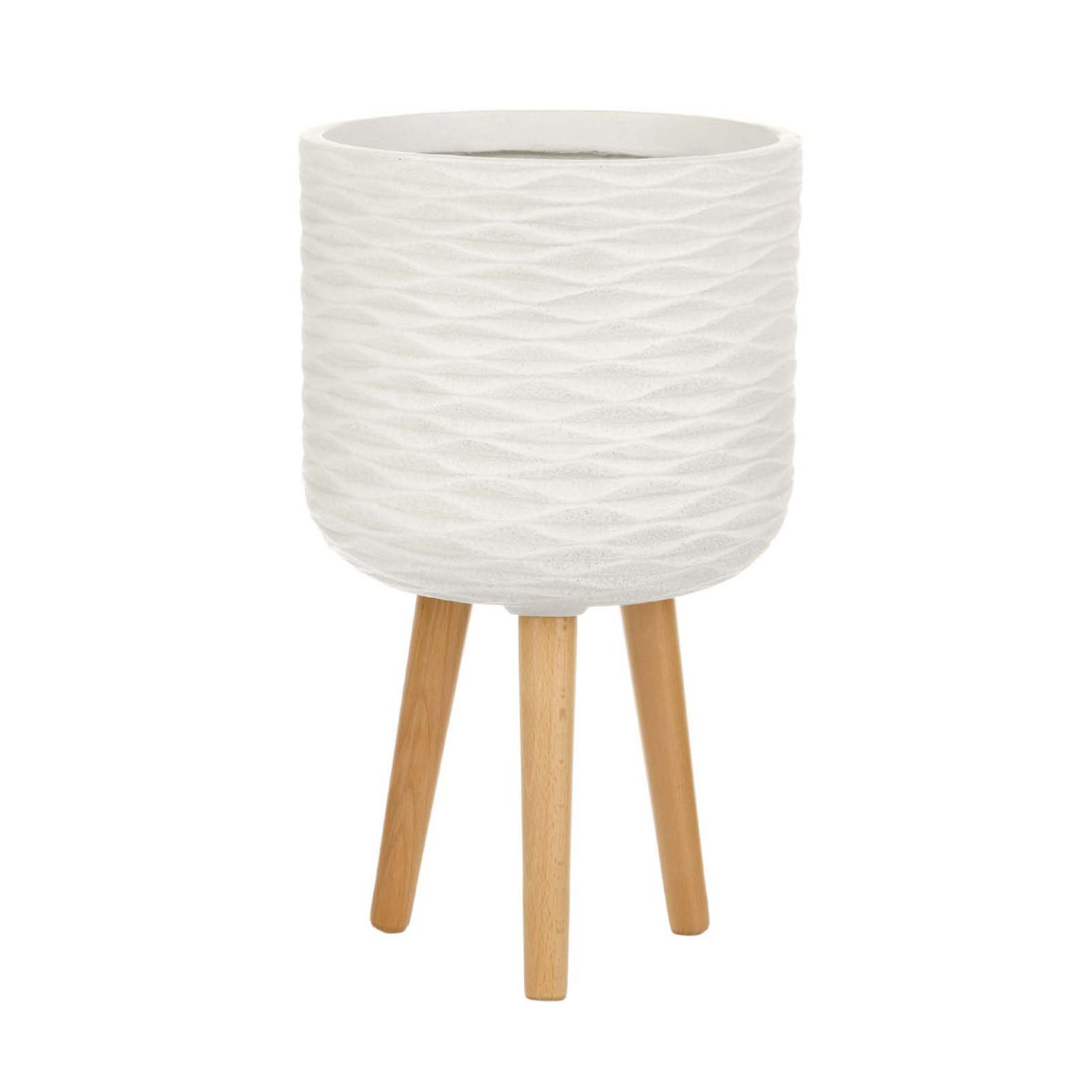 Кашпо PATTERN WITH STAND Ivory