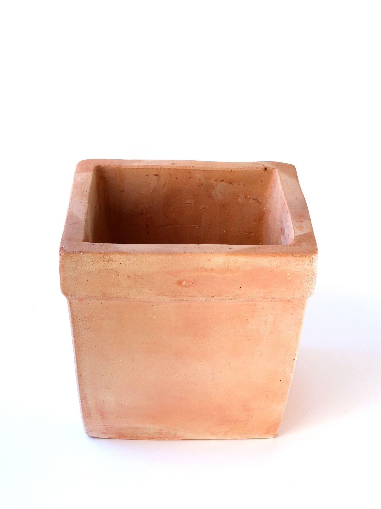 Керамический горшок Куб